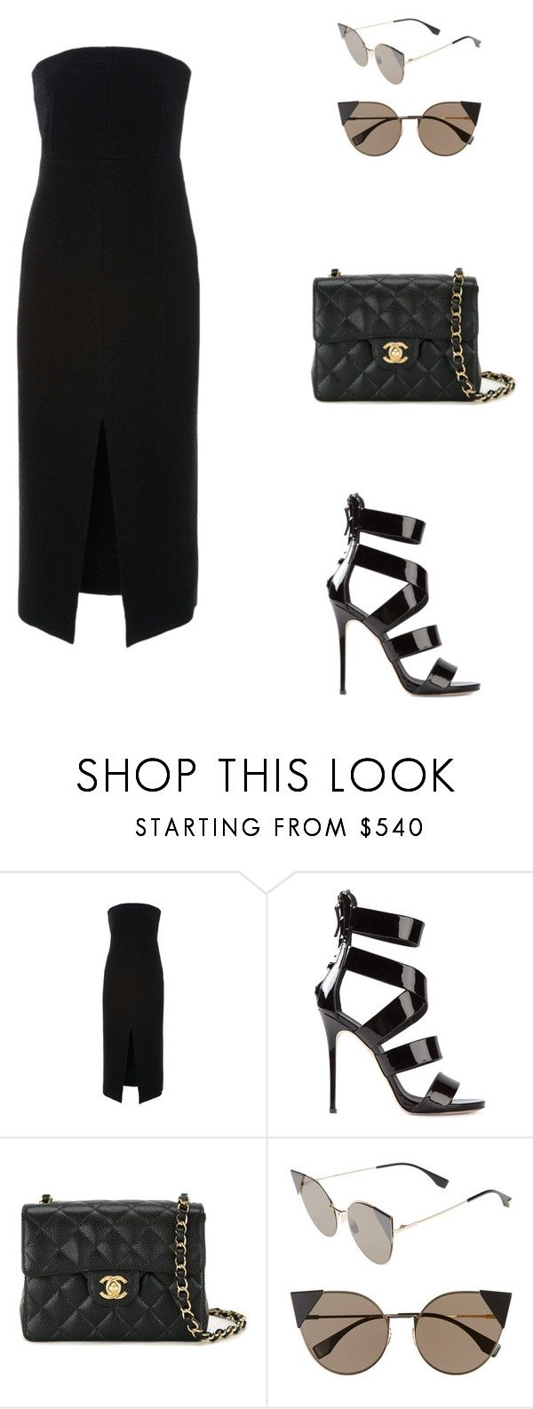 """UGG Store in New York."" by cmmpany ❤ liked on Polyvore featuring Protagonist, Giuseppe Zanotti, Chanel and Fendi"