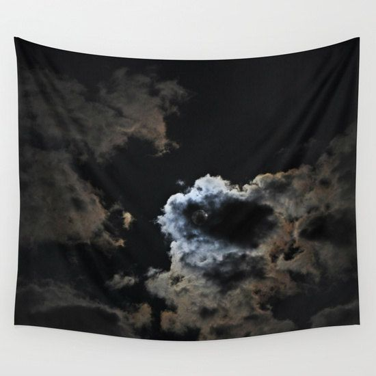 Night Sky Wall Tapestry, Moon Tapestry, Night Sky Home Decor, Nature Tapestry…