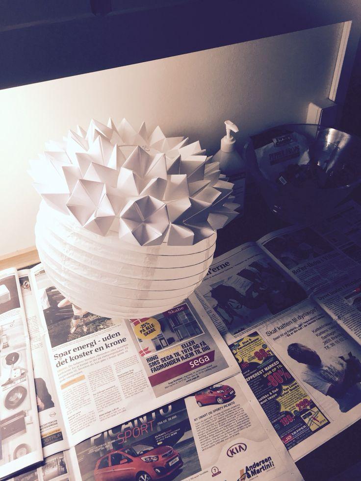 Halfway Origami lamp