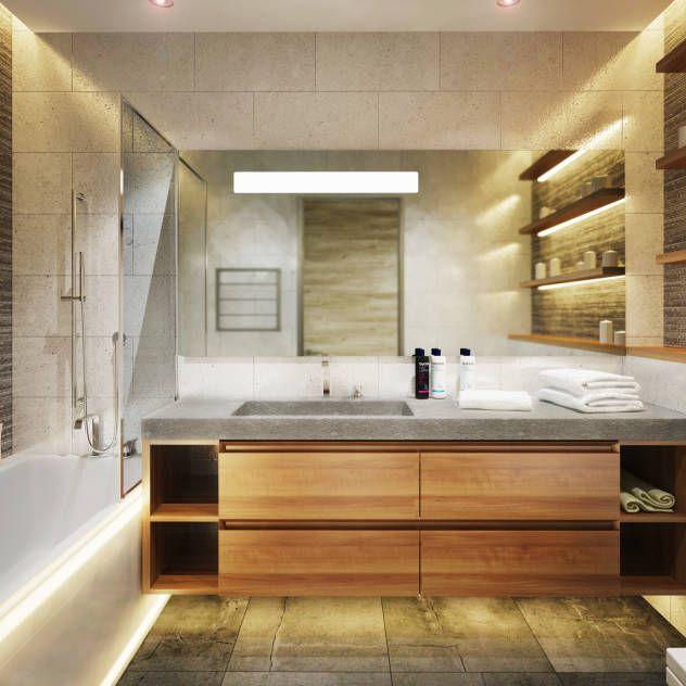 Bagno minimalista di Polovets & Tymoshenko design studio