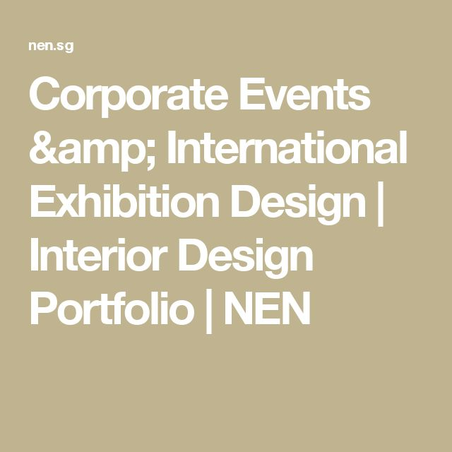 Corporate Events International Exhibition Design