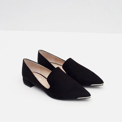 43f7e43f085 Image 4 of FLATS WITH METAL TOE from Zara