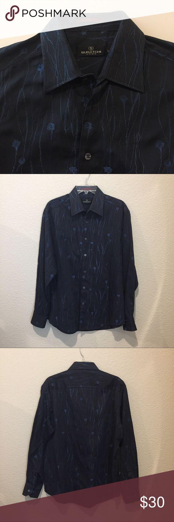 Men's Bugatchi long sleeve 100% cotton Bugatchi long sleeve button up shirt. Bugatchi Shirts