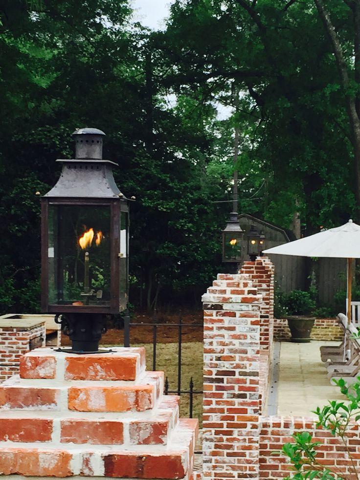 Poolside lighting gas lantern by Bevolo Williamsburg