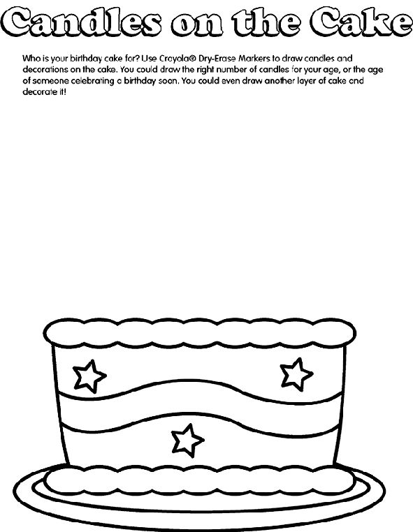 9 best birthday cake images on Pinterest Colouring Coloring