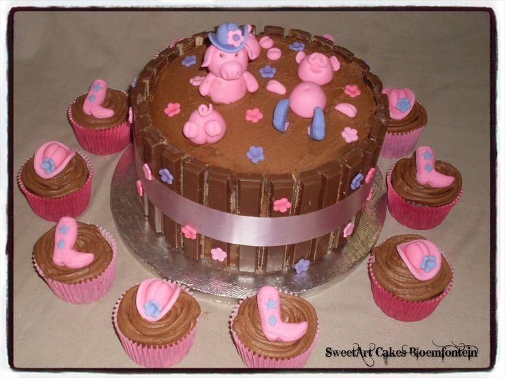 Mud Pool Piggy Cake For more info Email SweetArtBfn@gmail.com, Call 0712127786 or visit https://www.facebook.com/SweetArtCakesBfn