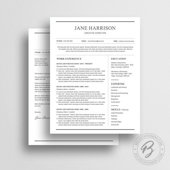 Simple resume template for Microsoft Word with matching cover letter and reference page - Instant download. Simple resume template that will help you make great first impression and impress more hiring managers! Buy 2 resumes for $25, use code: BUY2PROMO (You can also buy 1 resume and 1 media kit template with the code) GET THE RECRUITERS ATTENTION – GET THAT JOB When applying for a job your resume and cover letter is the first impression the recruiter gets of you. With our professionally d...