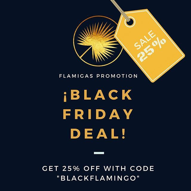 It's BLACK FRIDAY! Get 25% on Flamigas accessories & beachwear! ⭐️ 🏝⭐️ 🏝⭐️ 🏝⭐️ 🏝⭐️ 🏝 #blackfriday #blackfridaysale #sale #promotion #specialoffer #accessories #jewelry #beachwear #tropical #latin #lifestyle #onlineshop #girls #ladies #women #fun #gold #flamigas #amor #munich #lateinamerika #embroidery #germany #colombia #usa #ootd #black