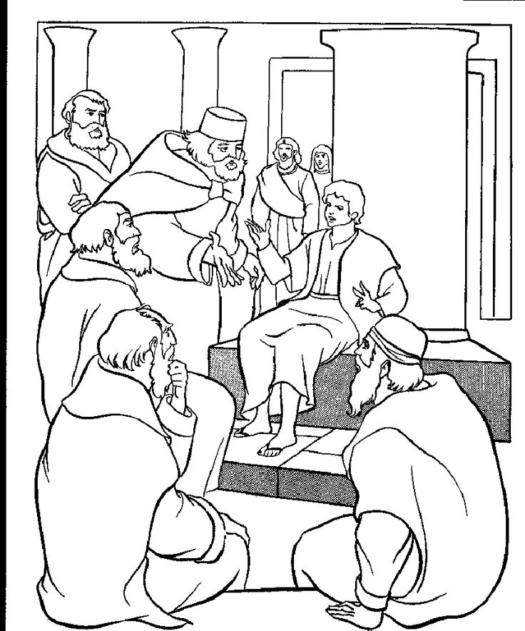 coloring pages jesus temple - photo#12
