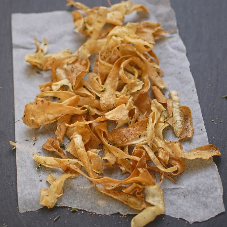 Parsnip Crisps with Smoked Salt and Thyme