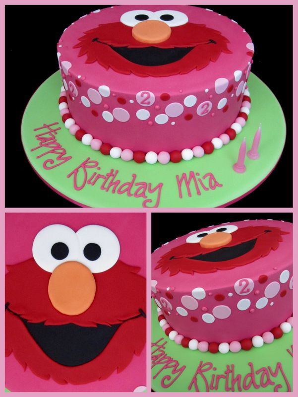 Girl Elmo Birthday cake