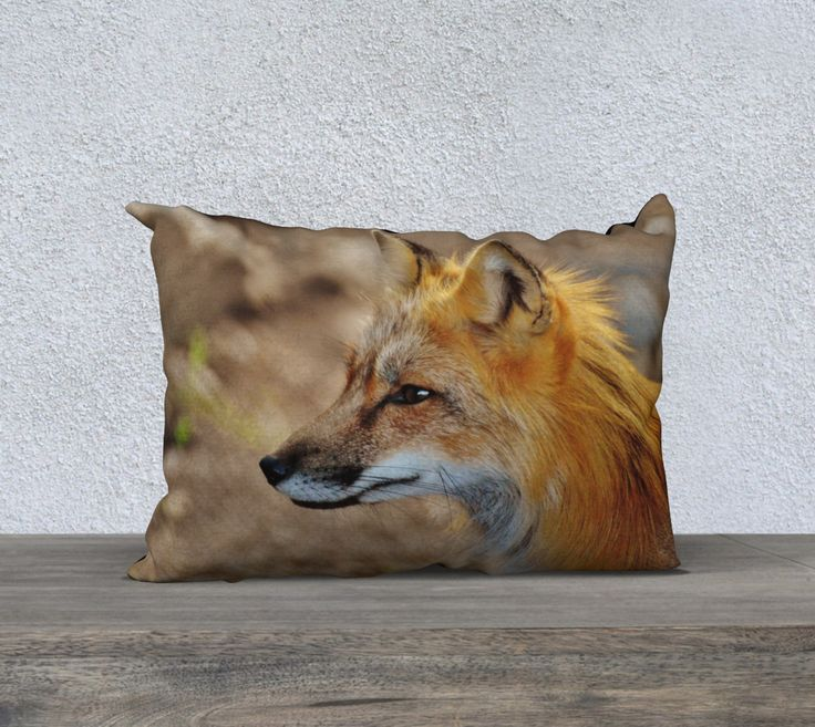 """20""""+x+14""""+pillow+""""Inquisitive+Mr.+Fox""""+by+Mixed+Imagery"""
