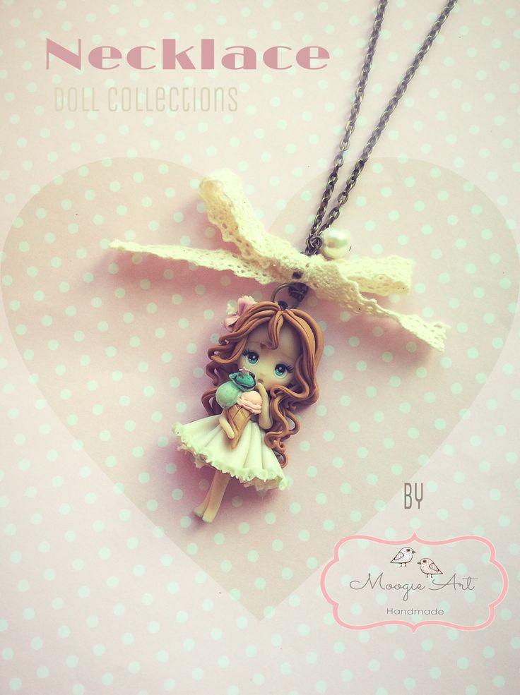 Doll bambola polimerclay ciondoli