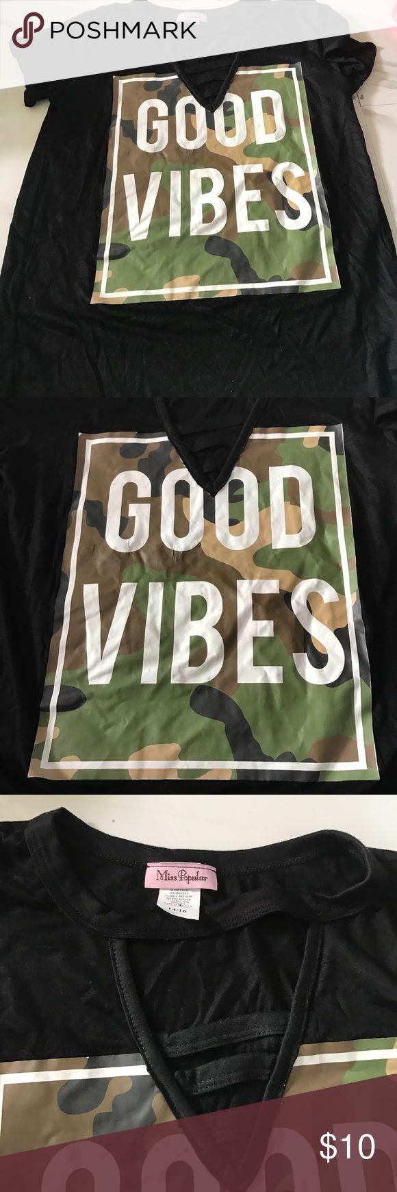 Designer emoji top Good vibes.   Box60e.  New no tag Shirts & Tops Tees - Short Sleeve