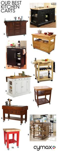 Kitchen carts are a hugely popular choice for the modern kitchen. Small spaces and growing families mean that kitchen space is at a premium. Try a small portable kitchen cart that can easily be mov…