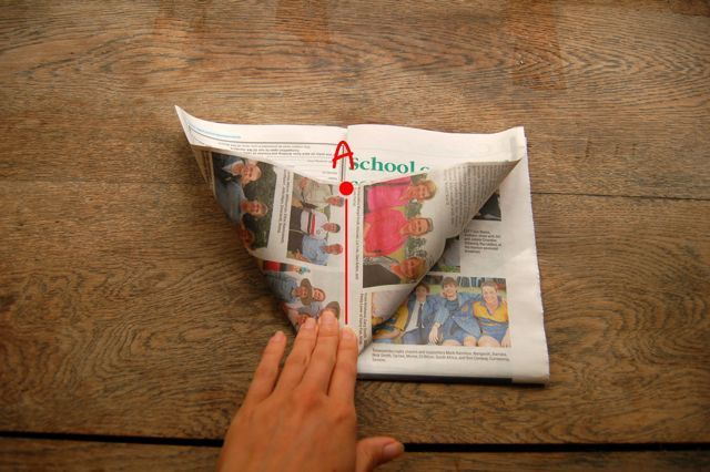 How to Make Origami Newspaper Seedling Pots | For Greenies