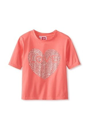 51% OFF Havoc Denim Kid's Lisa Heart Stud Tee (Coral)