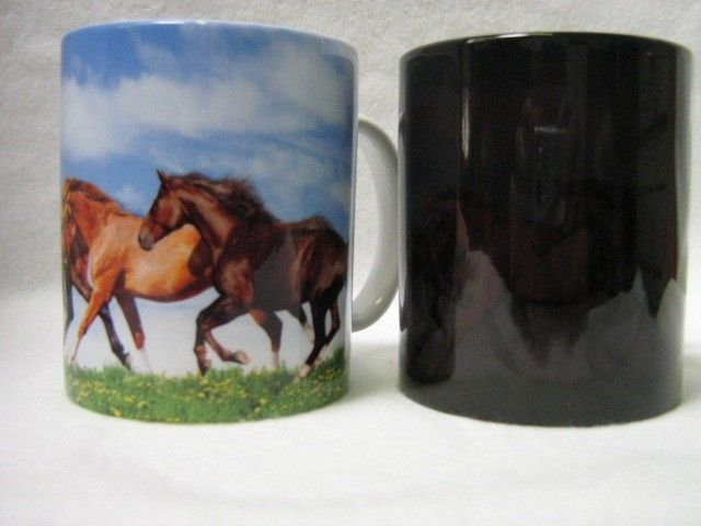 "Horse ""Magic"" Color Changing Coffee Mug / Make Perfect Gifts!"