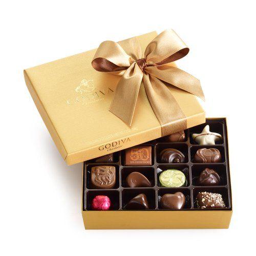 GODIVA Chocolatier Gold Ballotin Classic Gold Ribbon 19 Pieces - http://mygourmetgifts.com/godiva-chocolatier-gold-ballotin-classic-gold-ribbon-19-pieces/