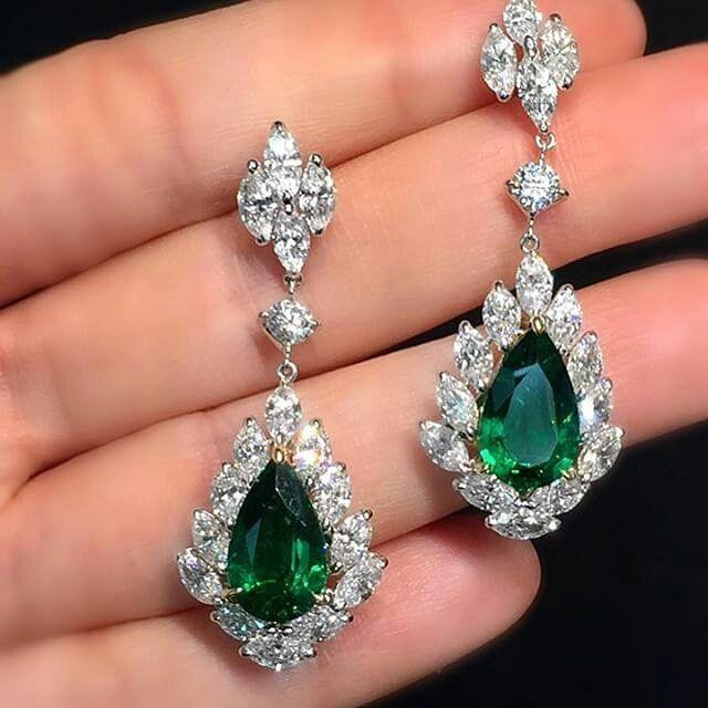 Paco Art HK #green #emerald #diamond #earrings #exceptionalpiecesofart