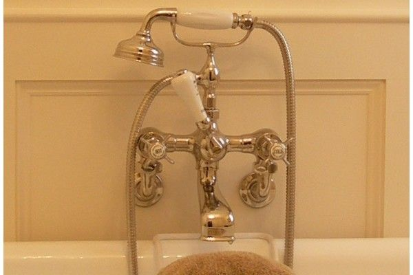 Chadder BSM 101 Wall Bath Shower Mixer Nickel Finish, Backplate with Soap Dishes.
