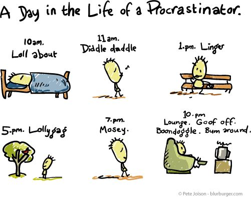 It's National Procrastination Week (2nd week in March).  Go forth and put off....! :)