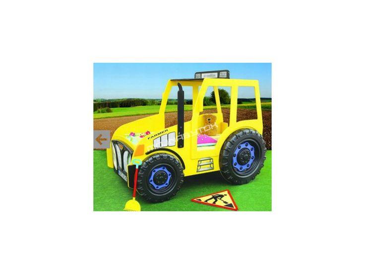 Detská posteľ Traktor žltý.