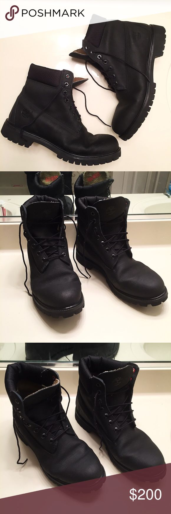 NEW men's black leather Timberland boots size 11 Brand new and never worn (NWOT). Men's black genuine leather Timberland boots size 11 Timberland Shoes Boots