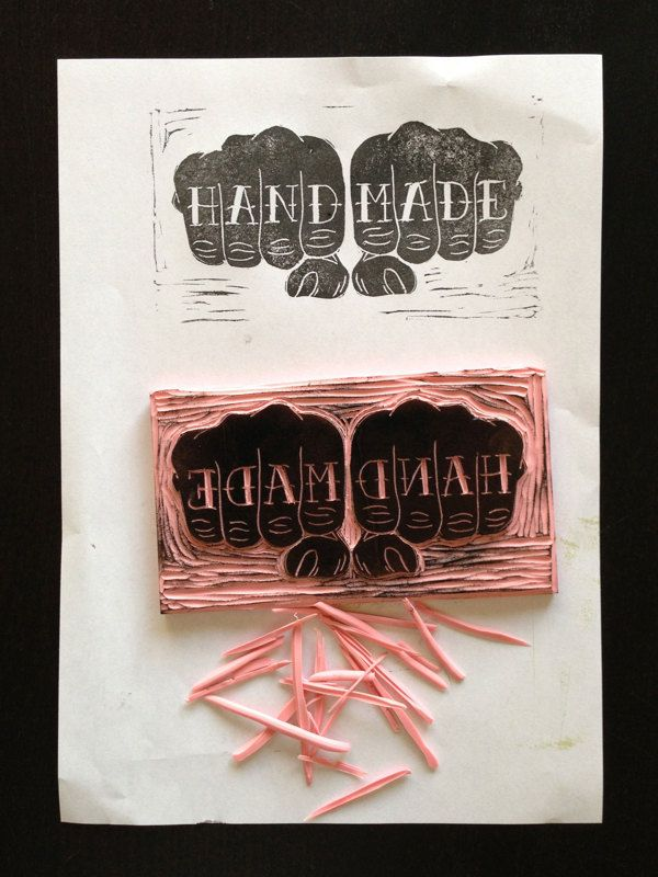 (RUBBER STAMP by Aaron von Freter)                                 Fine arts appreciation idea: hand as communication, cross contour lines... OR tattoo lesson?