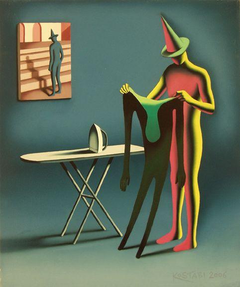 Mark Kostabi - Irony Is My Shadow, 2006. Oil on canvas. °
