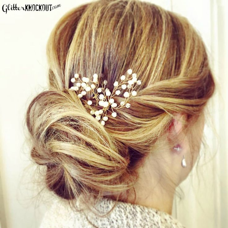 Beaded Bun with @BHLDN hair pins. #bridalhair #boho #messy