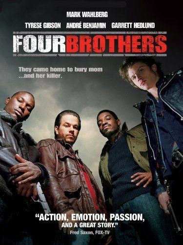 "Four Brothers  What IS it about this movie? Look at the line on the poster:  ""and a great story""... That's what is missing in Hollywood these days:  A STORY!!!  These guys had a mother they dearly loved, and as street tough as they were, they weren't ashamed to show it. Okay, they did go to extremes, but..."