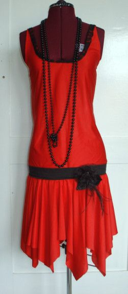 1920's Flapper Dress for the pic I think this could be made. I think some bright colors could be a great contrast.
