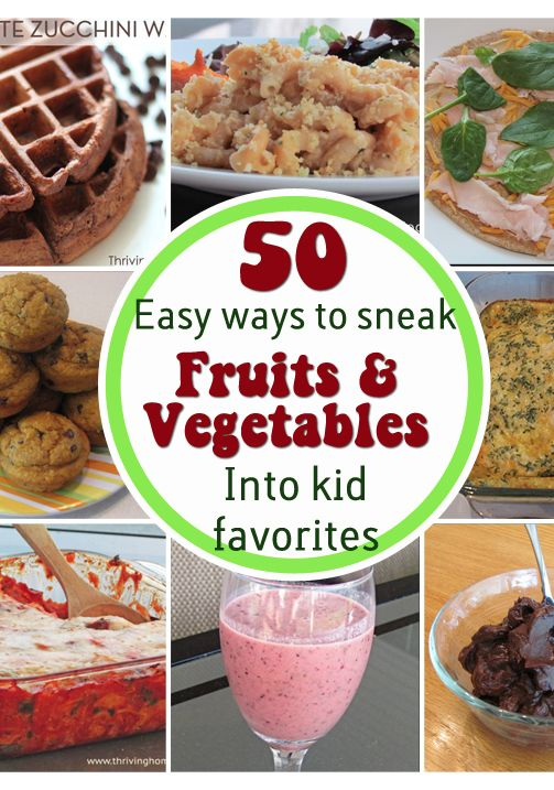 Tons of tasty, healthy, family friendly recipes. Who knew there were so many ways to get fruits and veggies into a kid's food!?