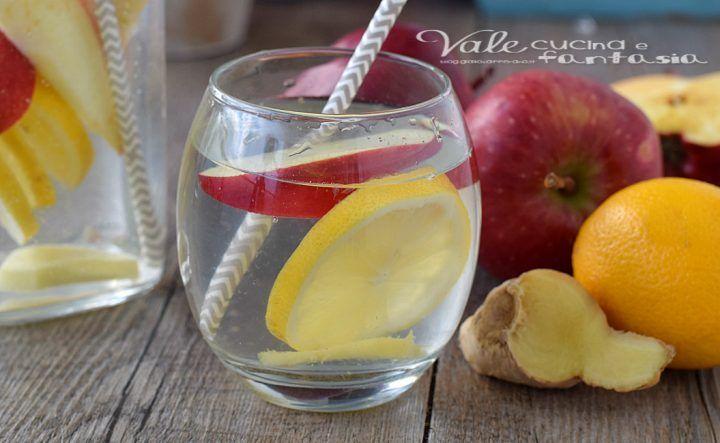 ACQUA DETOX ricetta per depurarsi con mela limone e zenzero