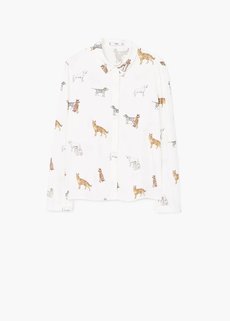 Camisa fluida estampada - Camisas de Mulher | MANGO Portugal