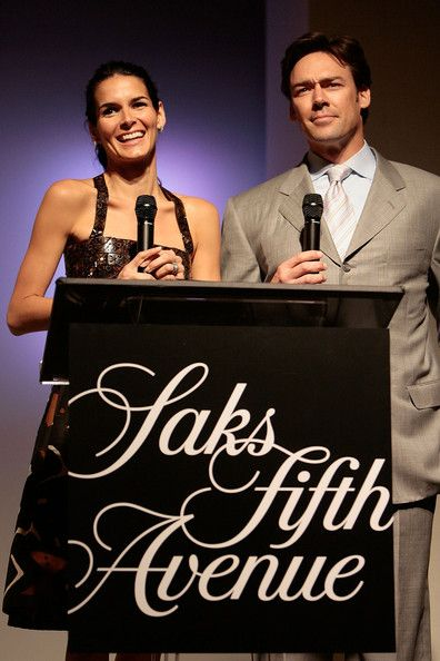 Angie Harmon Jason Sehorn Photos - Actress Angie Harmon (L) and husband Jason Sehorn accept the 'Champions For Children' award at Saks Fifth Avenue's 20th Annual Spring Luncheon at the Beverly Wilshire Hotel on April 9, 2008 in Beverly Hills, California. - Saks Fifth Avenue's 20th Annual Spring Luncheon