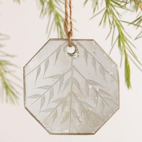 Glass Etched Mirror Ornaments, Set of 3 | World Market