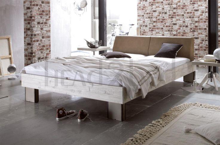 Hasena Quada Cena - Solid Acacia Vintage Real Leather Bed