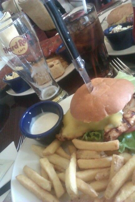 Hard rock cafe !! first hamburger ever