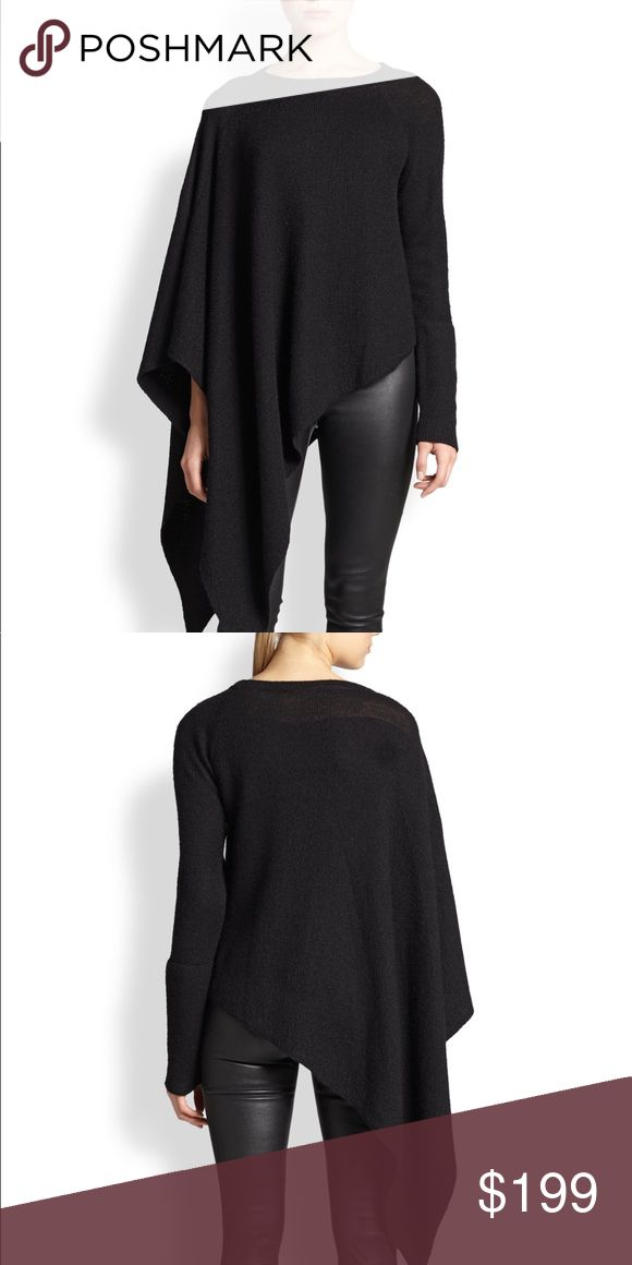 Helmut Lang alpaca poncho size P Gently used, this sweater is beautiful. Hard to find. Size P is an xs. Helmut Lang Sweaters Shrugs & Ponchos