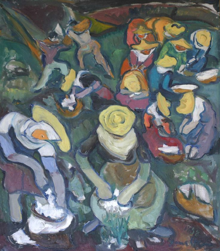 'The Cotton Pickers' (1958) by Irma Stern
