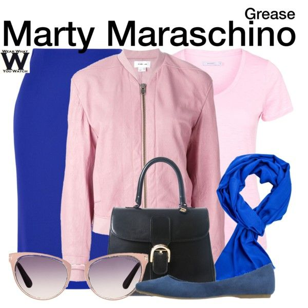 Inspired by Dinah Manoff as Marty Maraschino in 1978's Grease.