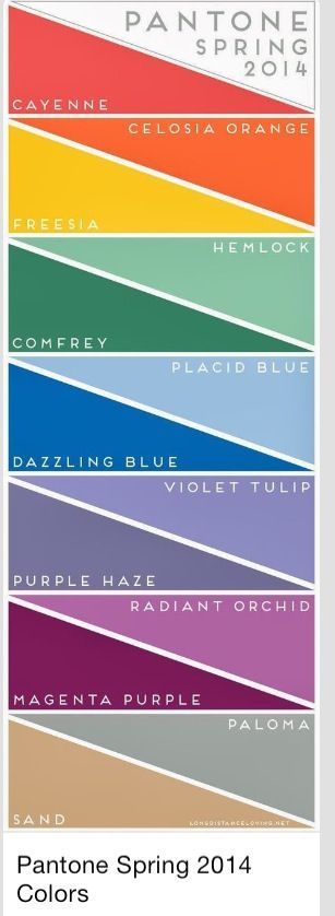 Spring 2014 Color Trends!