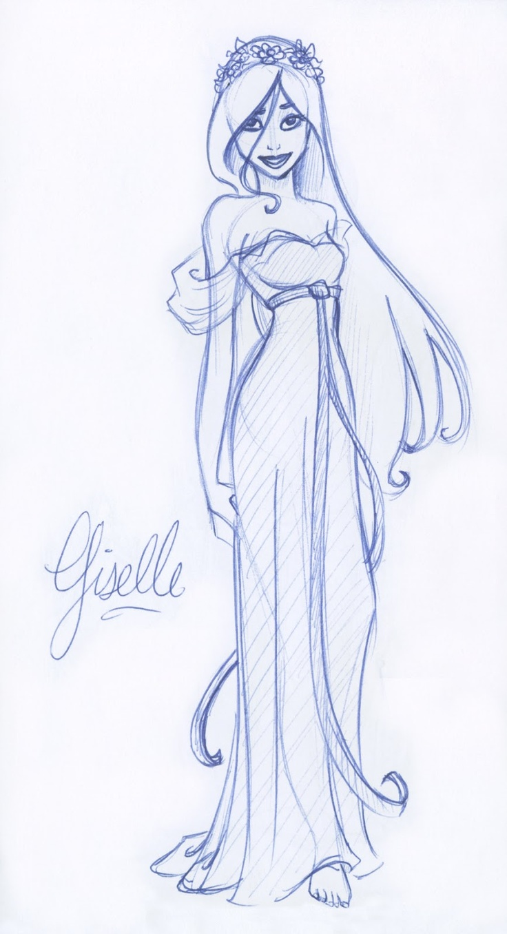 nice Giselle sketch by Drew: Pen and Pencil blog :)