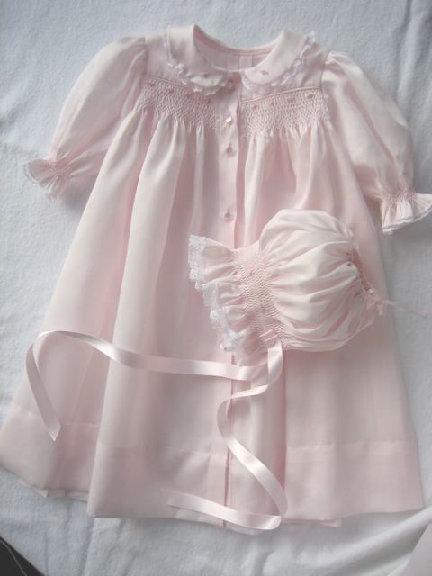 Beautiful smocked coming home gown. My girls had the most beautiful gowns like this to come from the hospital. Sweet memories!