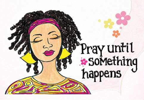 Pray Until Something Happens Magnet