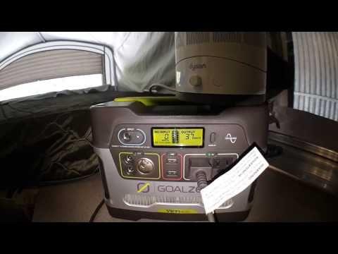 pop up camper RV mod 1: Goal Zero 400 for non shore power - YouTube