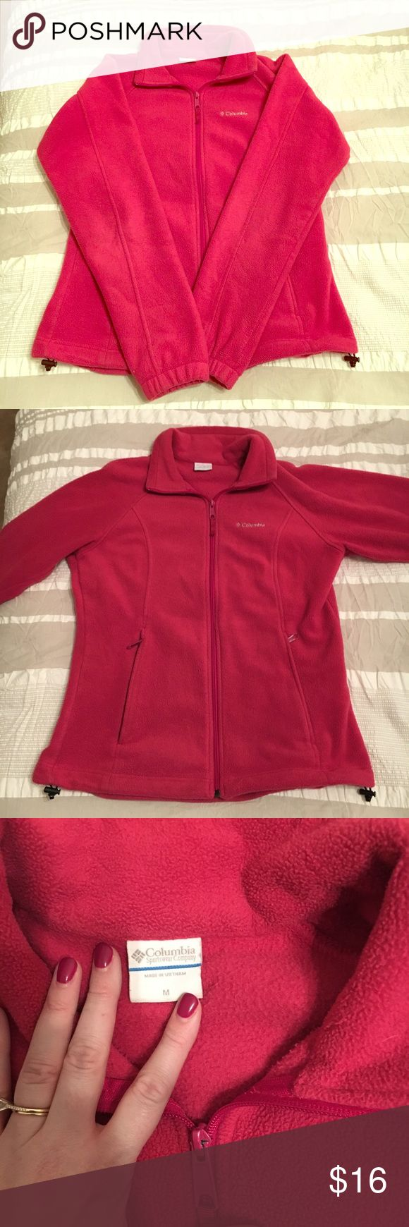 Pink Columbia Fleece Super soft Columbia Fleece Jacket! I somehow have two so need to sell one! Columbia Jackets & Coats