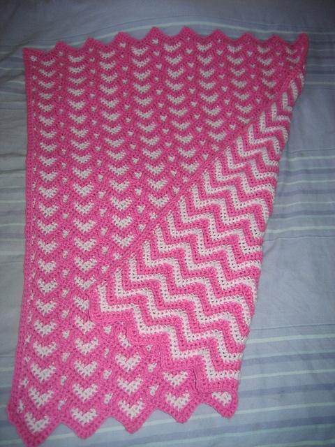 Fancy Free Crochet Ripple Baby Afghan Pattern Pattern Easy Scarf
